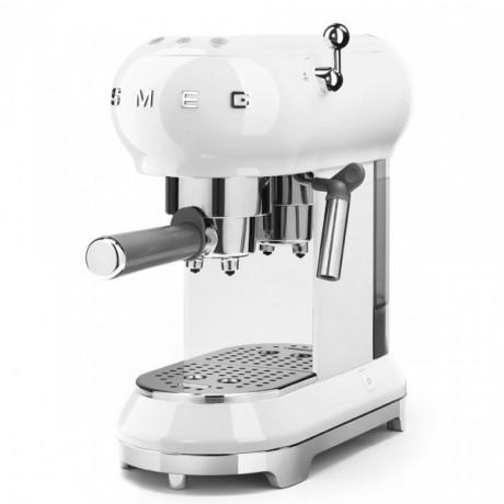 Ekspres do kawy kolbowy Smeg Biały ECF01WHEU